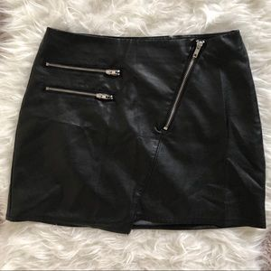 H&M Asymmetrical Faux Leather Skirt